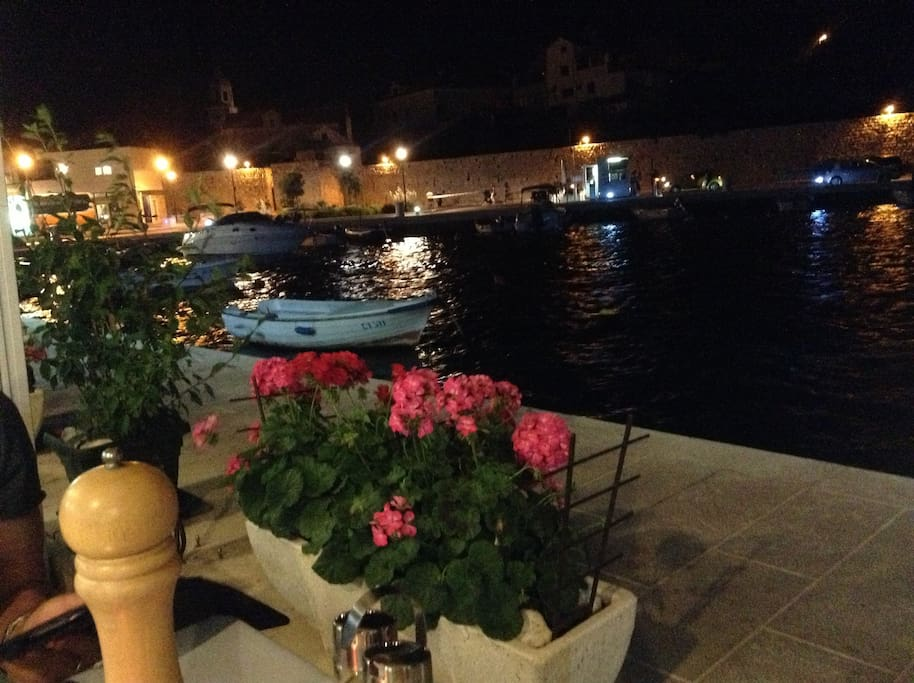 One of the many fab restaurants in Cavtat Harbour
