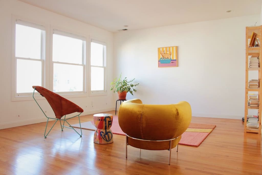 Sunny living room to hang out in