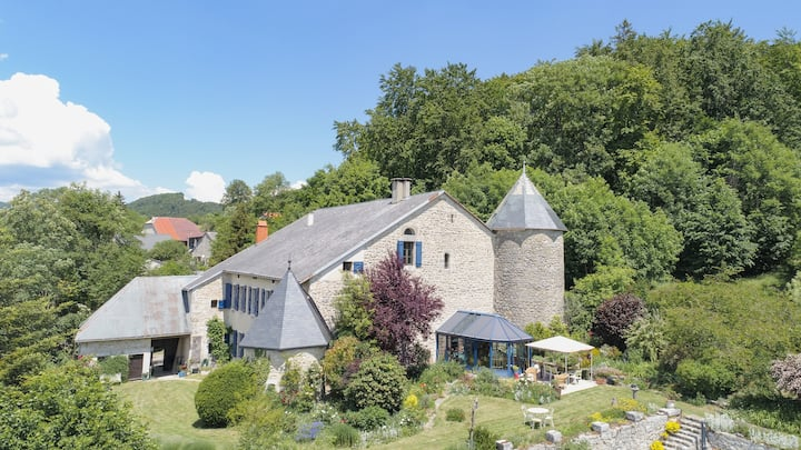 Comfortable 10th-Century château with sublime view