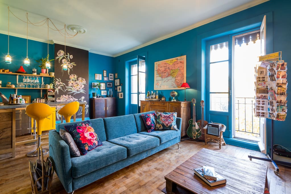 Appartement color la part dieu appartements louer for Appartement atypique lyon 2