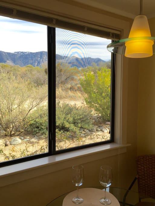 Mountain view from dining area