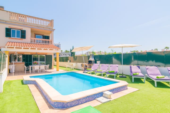 CASA MARCOS - Beautiful terraced house with private pool and nera the sea. Free WiFi