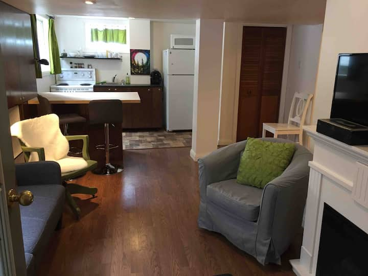 Cozy and bright  1 bedroom basement suite.