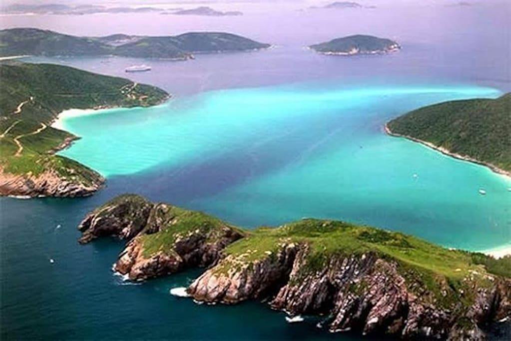 Arraial do cabo, o Caribe Brasileiro, a Capital do Mergulho. Venha conhecer o paraíso.