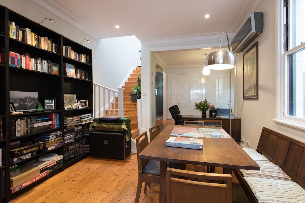 Generous shared living dining area