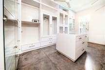 Master bedroom, ground floor, huge walk in dressing room with safety box