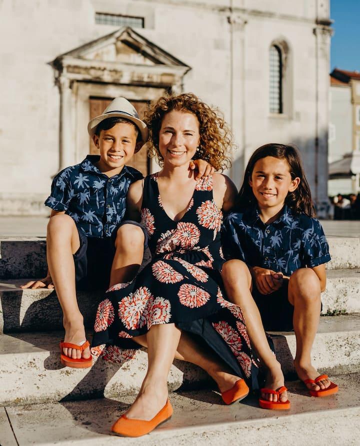 Family photo session in Zadar