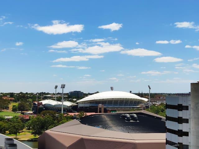 overlooking Adelaide Oval