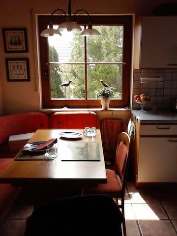 Die gemütliche Küche mit Eckbank