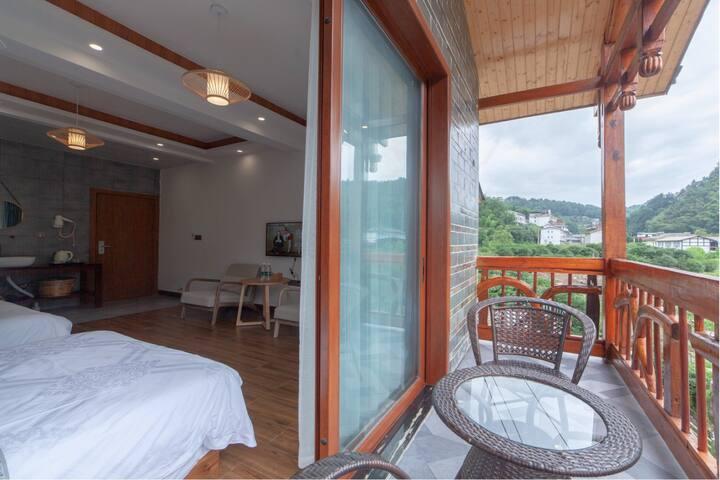 观景阳台双床房
