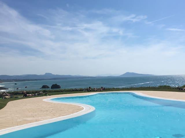 Studio vue sur mer exceptionnelle parking piscine