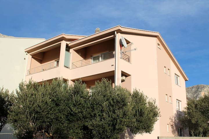 One bedroom apartment with balcony and sea view Podaca, Makarska (A-15475-a)