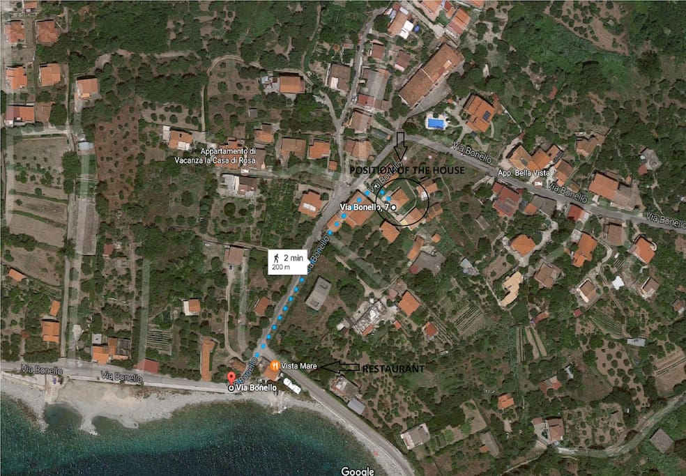Just 200 meters from the beach. Restourant