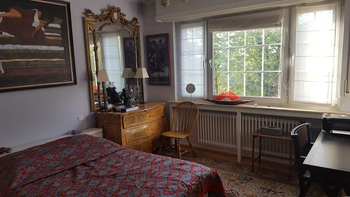 Sunny bedroom in Belair, Luxembourg city