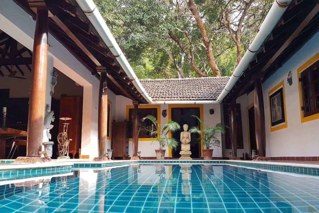 Entrance @ Little Siolim Villa Goa