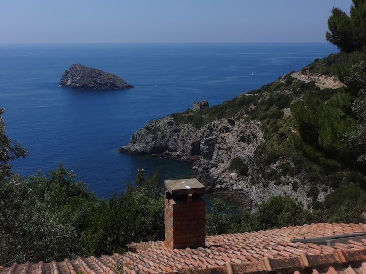 Argentario: Villa Lentisco, super sea-view & beach