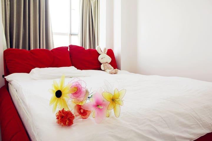 三亚天涯区大东海情人湾热带鱼无敌海景2房14层 - Sanya - Apartment