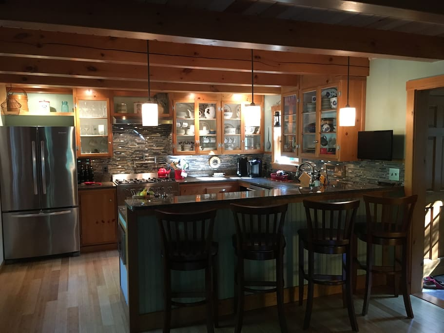 Kitchen with Eat At Bar