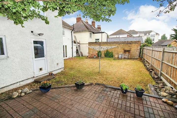 Rear garden with lots of room to relax and BBQ in