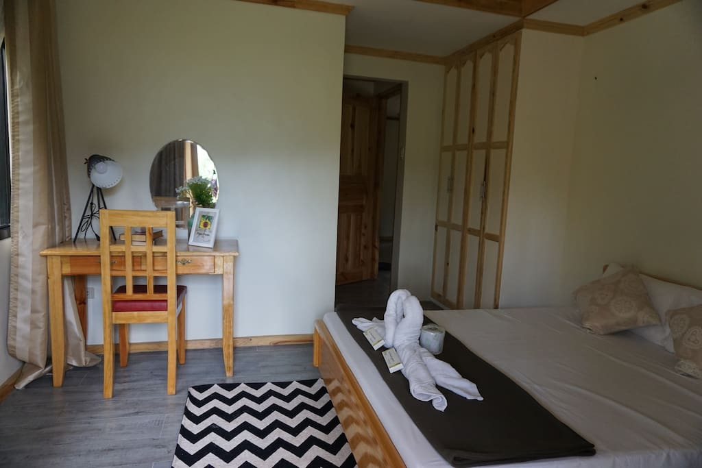 Balangagan Cave Room:  Queen Size bed good for 2 persons with its own toilet and bath