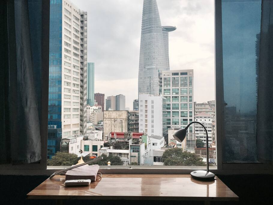 Perfect view of Saigon center from the main window