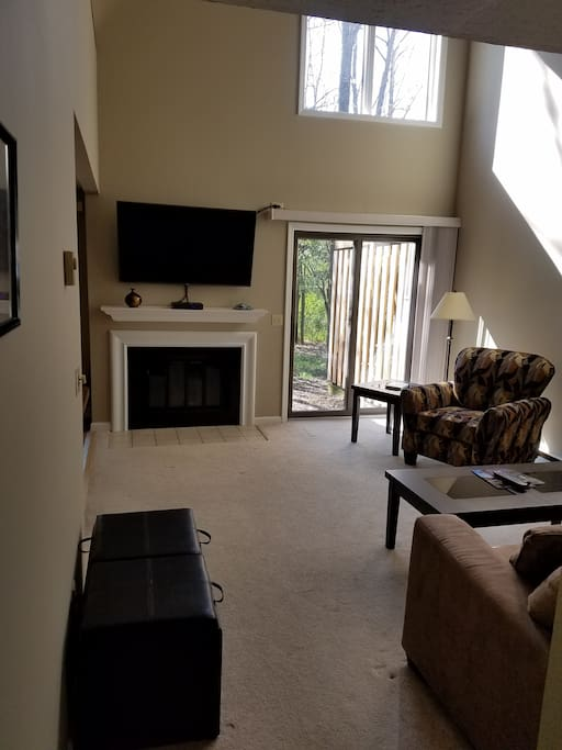 View of Living Room from Entry Way
