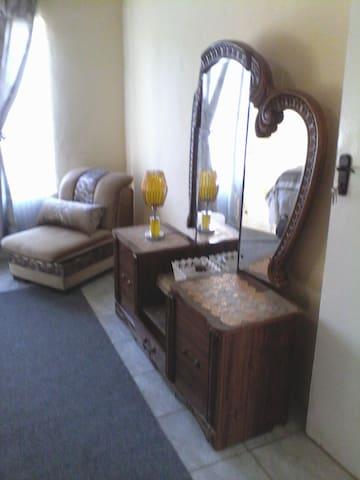 Sitting area in bedroom 1