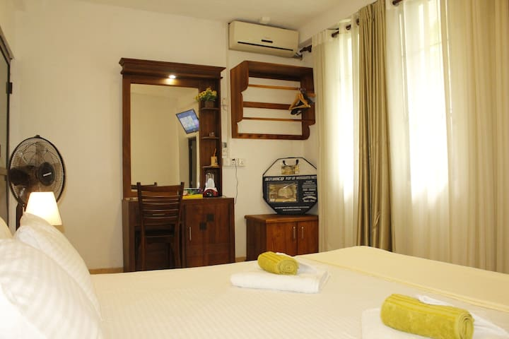 Bed with Room amenities