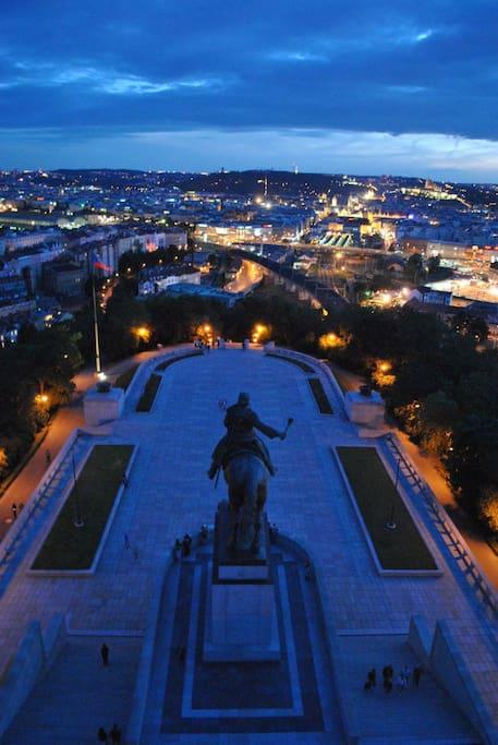 View from Vitkov Park