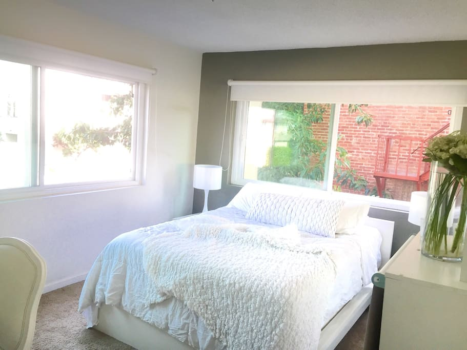 Lots of natural light in your bedroom through out the day.