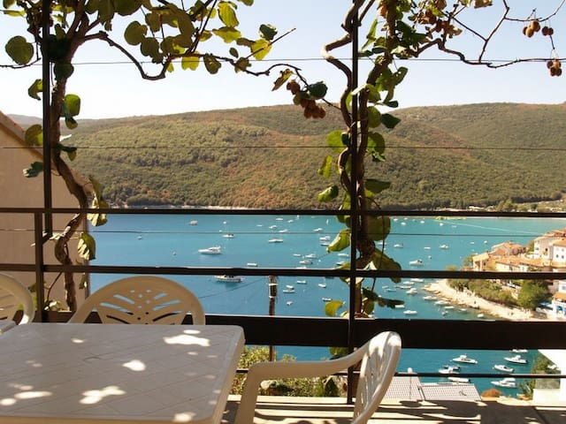 Lovely 5 persons app with sea view - Rabac - Pis