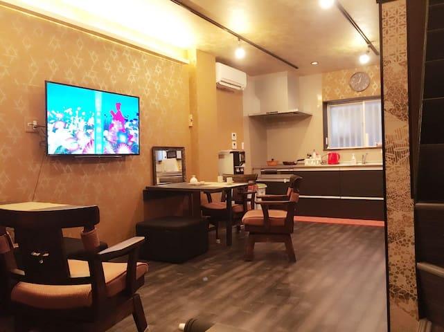 Free shuttle /乘车有迎送 4 bed rooms 2 shower rooms - Nagoya -shi - Huis