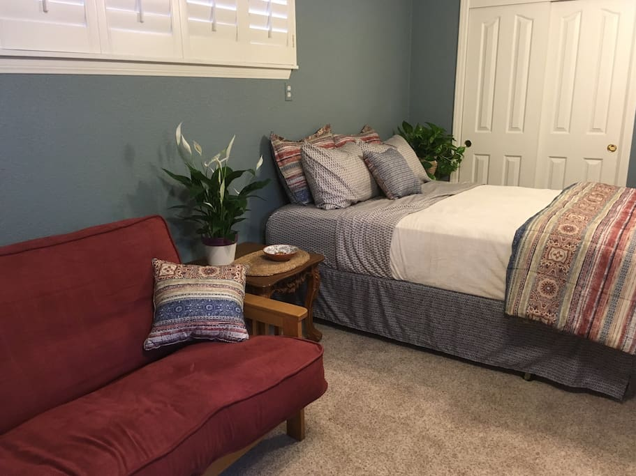New Queen Pillow Top Bed and Futon