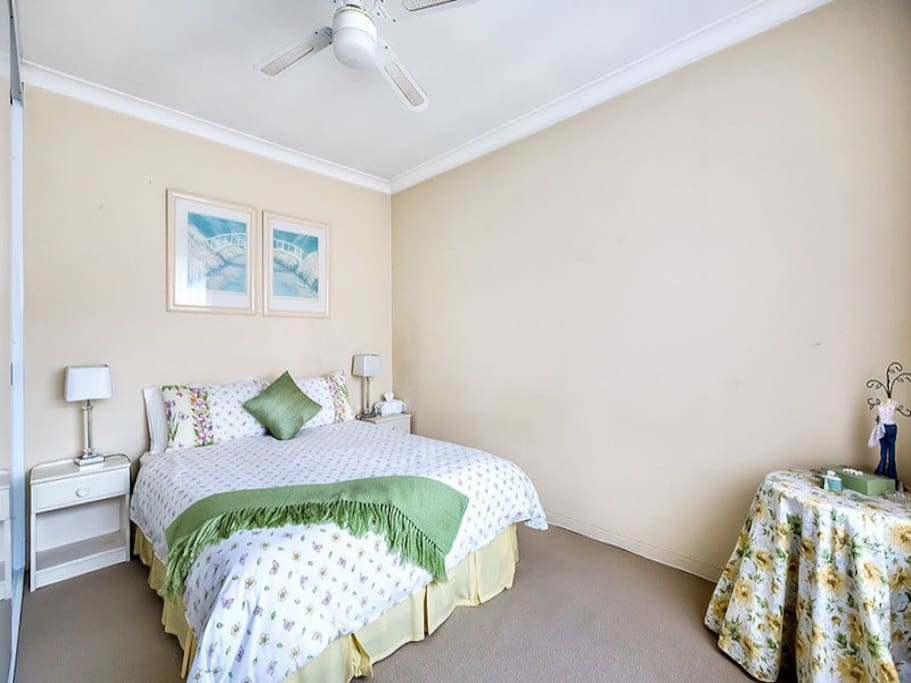 Master bedroom. This is old photo - furnishings are different now with a queen bed.