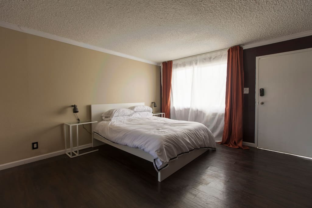 Corner bedroom has some of the best natural light at Sherwood.