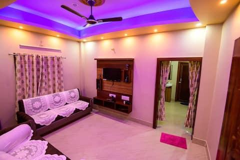 Prabhu Krupa - 1.5 BHK House 5 min to Beach/Temple