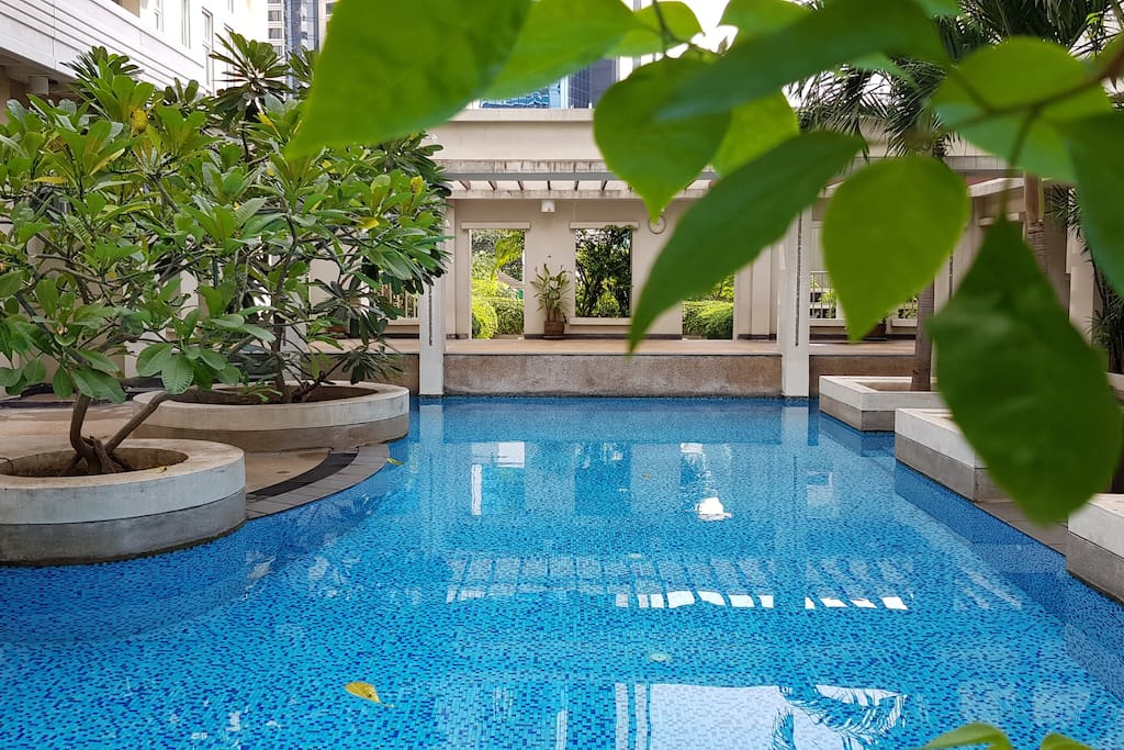 Nice swiming pool, ideal for refresh yourself or sun bathing after walking in the city.