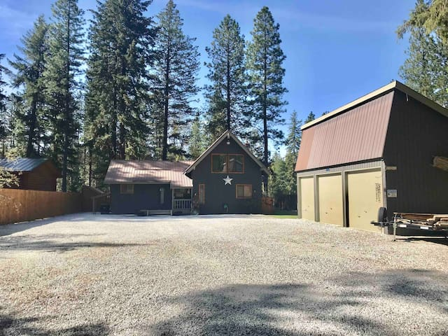Cabin has a nice large driveway perfect for yard games!
