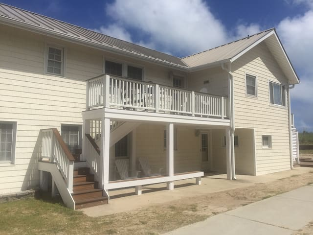 Large beachfront house in quiet, friendly area