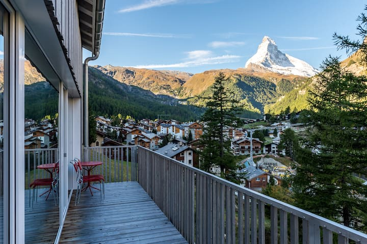 Appartement surplombant Zermatt accès ski direct