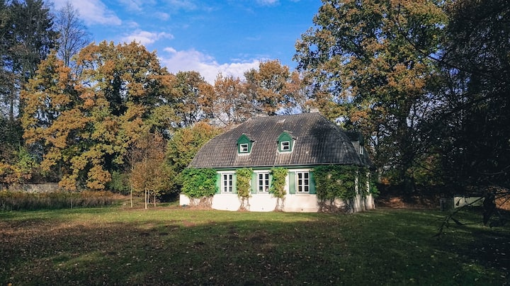 Cozy old house in a park