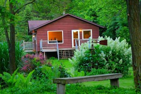 White Pine Cottage 4 Bed/2 bath w/ Hot Tub Jacuzzi - Lansing - Sommerhus/hytte