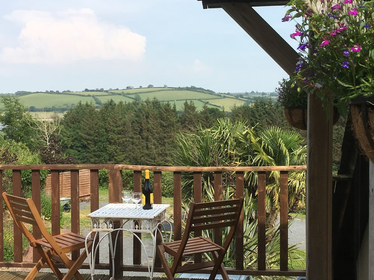 Enjoy a glass of wine on the terrace