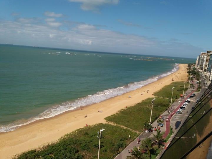 Flat com vista para o mar da Praia da Costa
