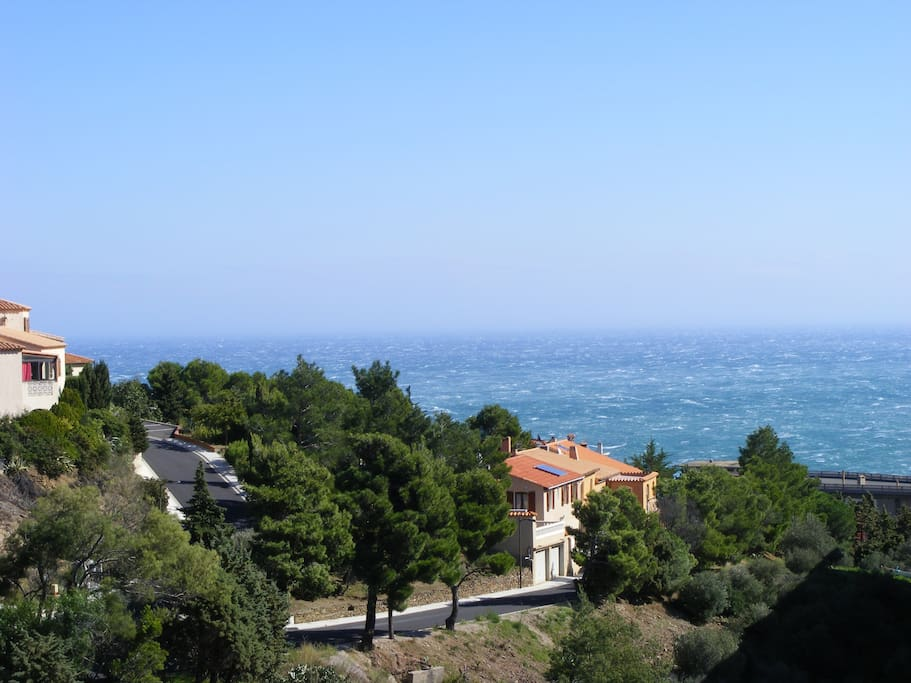 The fantastic view over the Med - every day it's different