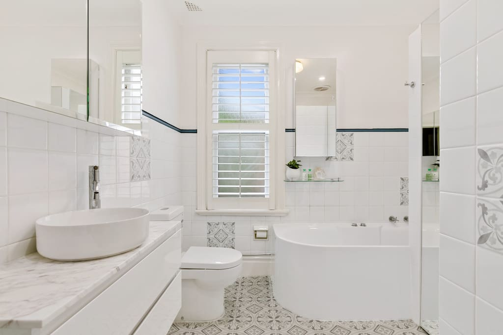 Bran New Large Bathroom with luxurious spa bath & large separate shower