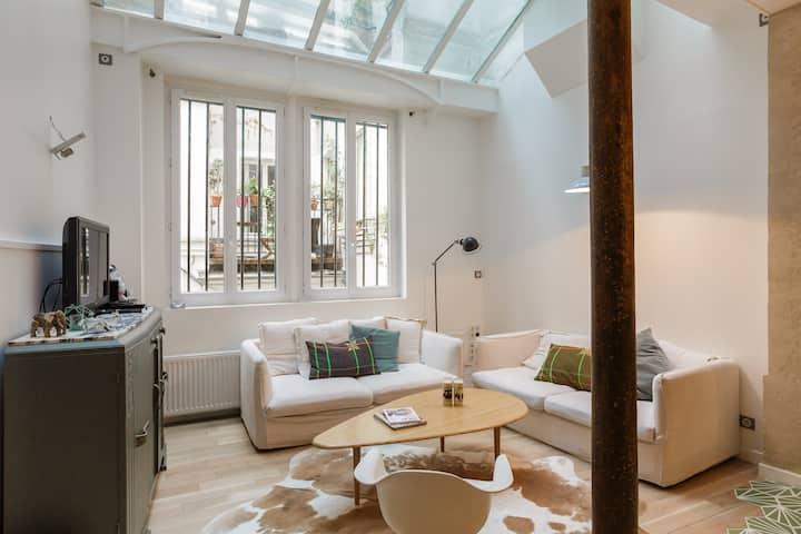 Loft Familial renové centre Paris
