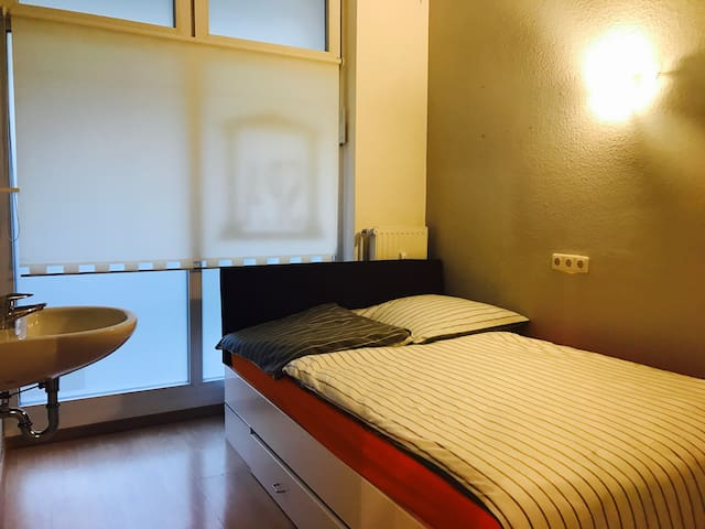 Comfortable Room,10 min walk from ZOB & Hbf. Wifi.