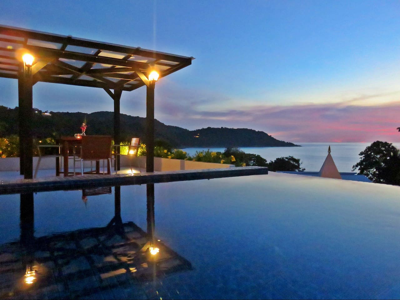 Incredibly Beautiful Private Rooftop Terrace With Amazing Sunset Skies And Views Over The Andaman Sea