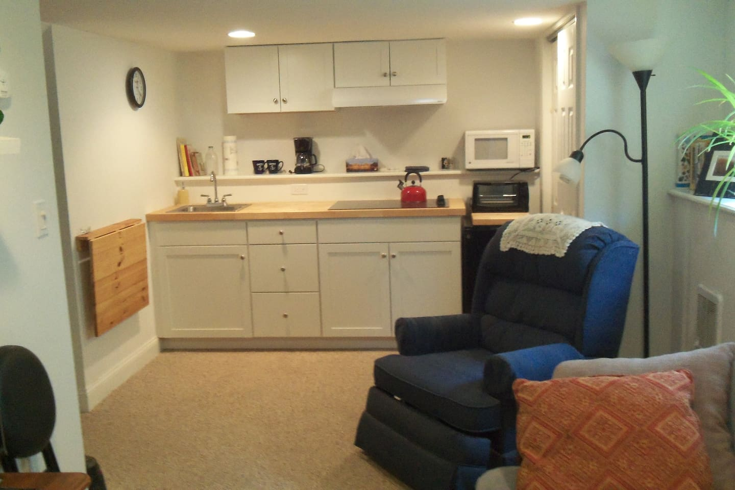 One bedroom in-law apartment with private entrance.